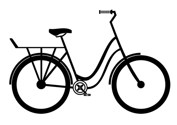 Coloring page citybike