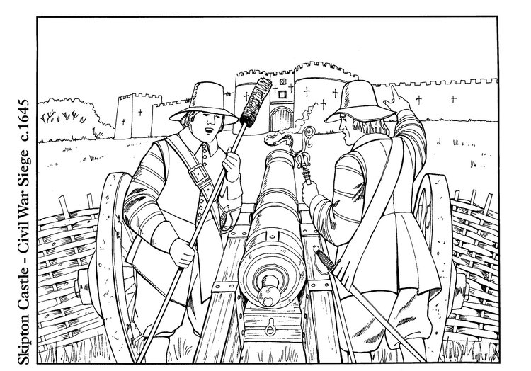 Coloring page Civil War Siege