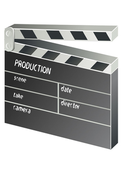 Coloring page clapboard - film