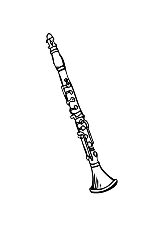 Coloring page clarinet