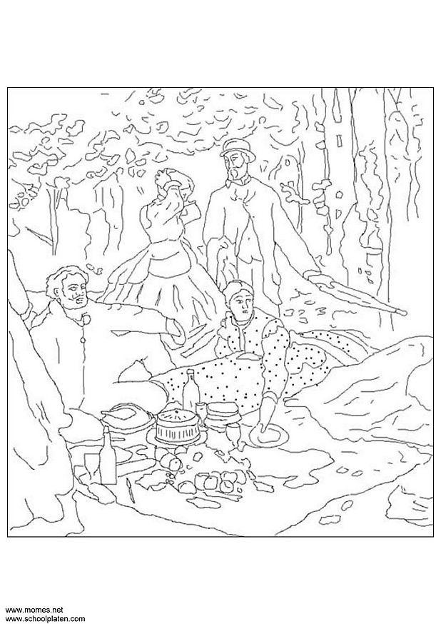 Coloring page Claude Monet - img 3114.