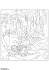 Coloring page Claude Monet