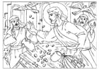Coloring pages cleansing the temple