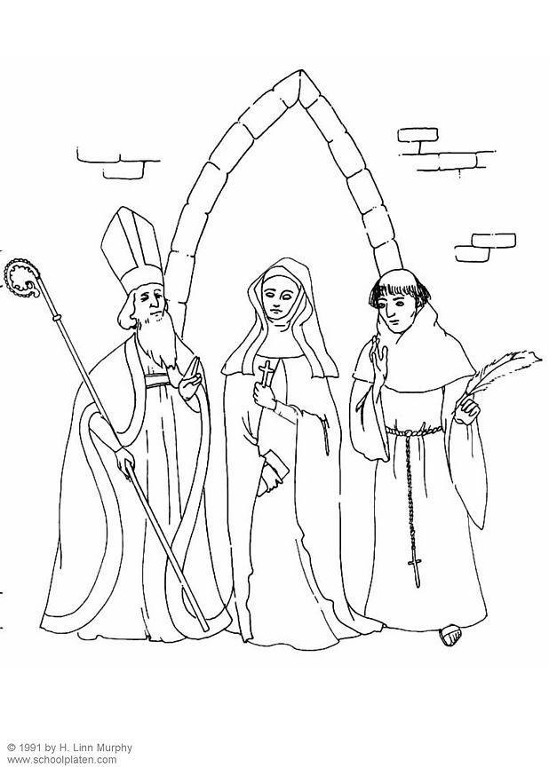 Koning Middeleeuwen Kleurplaat Coloring Page Clergy Free Printable Coloring Pages
