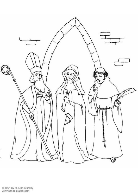 Coloring page clergy