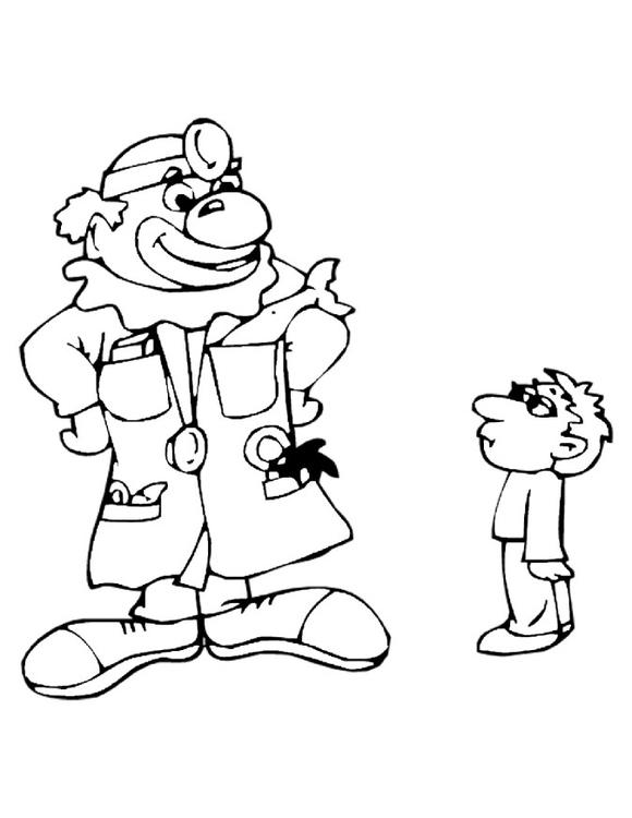 Coloring page cliniclown