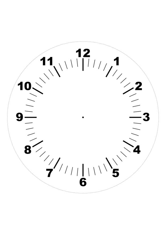 Coloring page clock