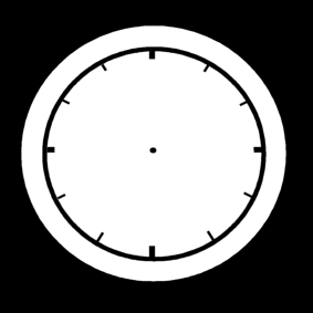 Coloring page clock is empty