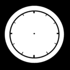 Coloring pages clock is empty