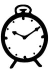 Coloring pages clock