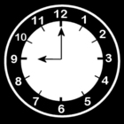 Coloring pages clock says 9 o'clock