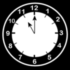 Coloring pages clock says eleven o'clock