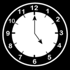 Coloring pages clock says five o'clock