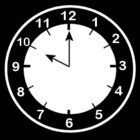 Coloring page clock says ten o'clock