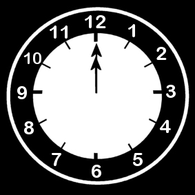 coloring page clock says twelve oclock img 14204