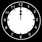 Coloring page clock says twelve o'clock