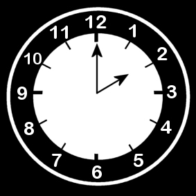 Coloring page clock says two o'clock