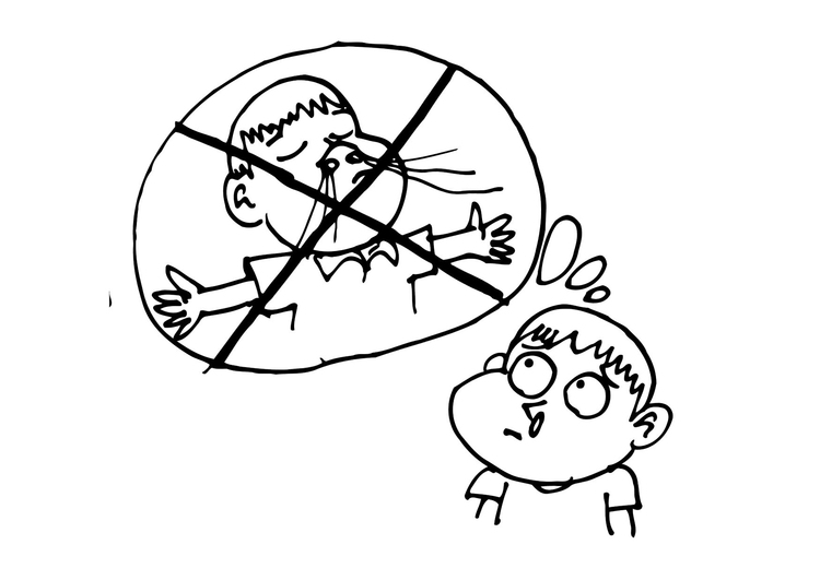 Coloring page clogged up nose