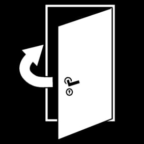 Coloring page close the door