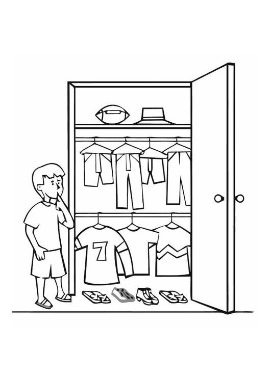 Coloring page closet