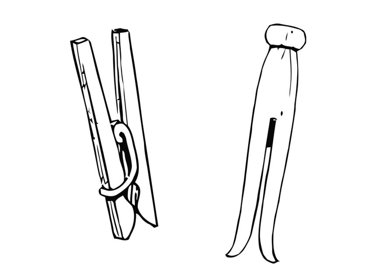 Coloring page clothes peg