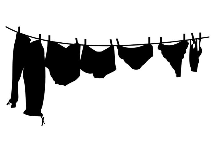 Coloring page clothesline