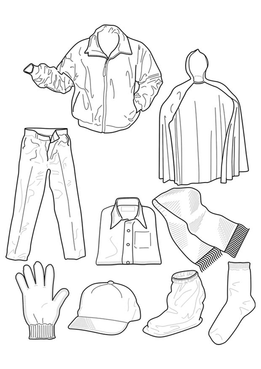 Coloring page clothing