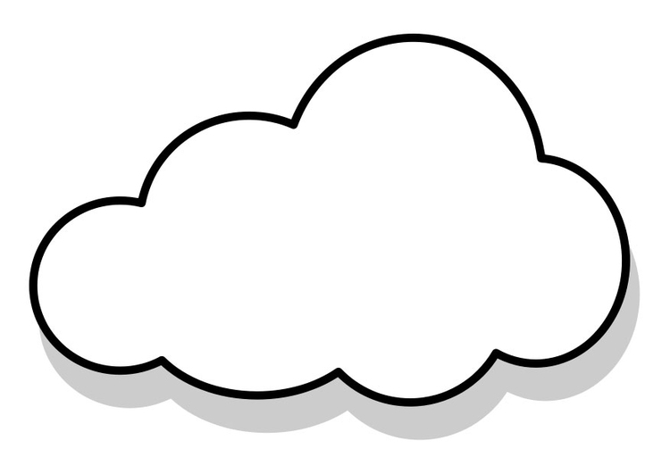 Coloring page cloud