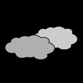 Coloring page cloudy