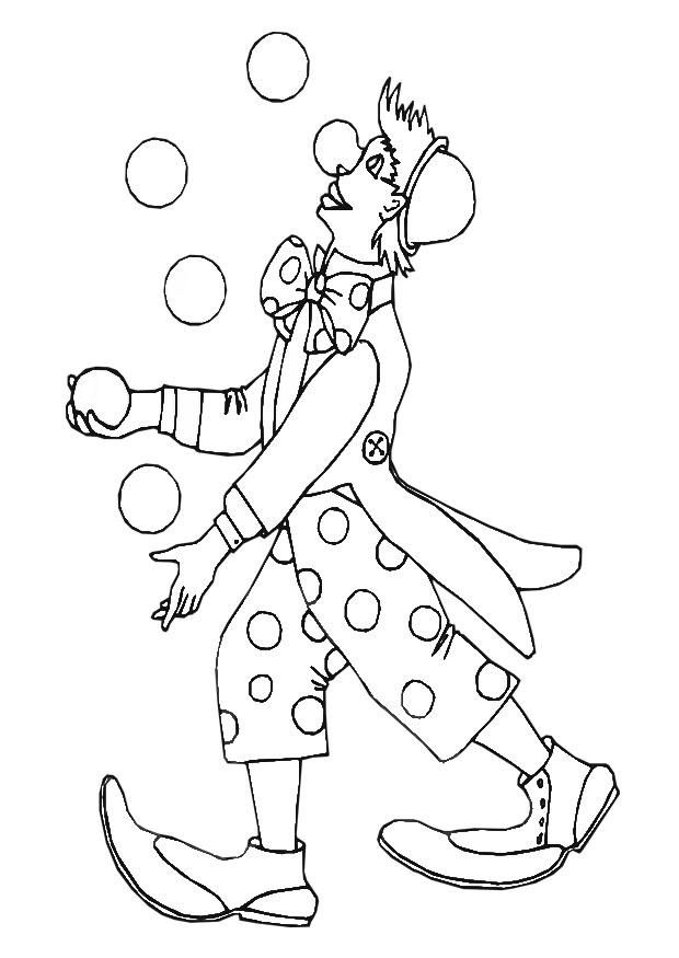 coloring page clown  free printable coloring pages  img