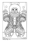 Coloring page clown