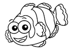 Coloring pages clownfish