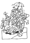 Coloring page clowns