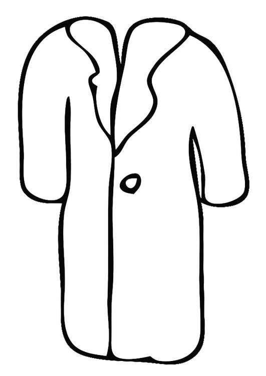 Coloring page coat