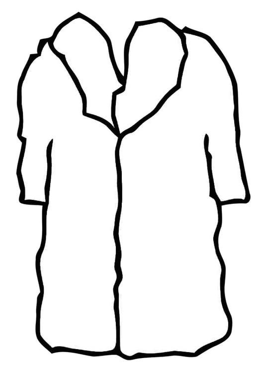 coloring page coat - fur coat
