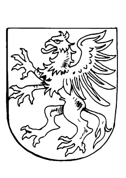 Coloring page coat of arms