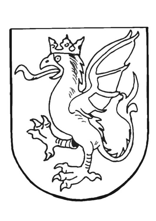 Coloring page coat of arms - img 9082.