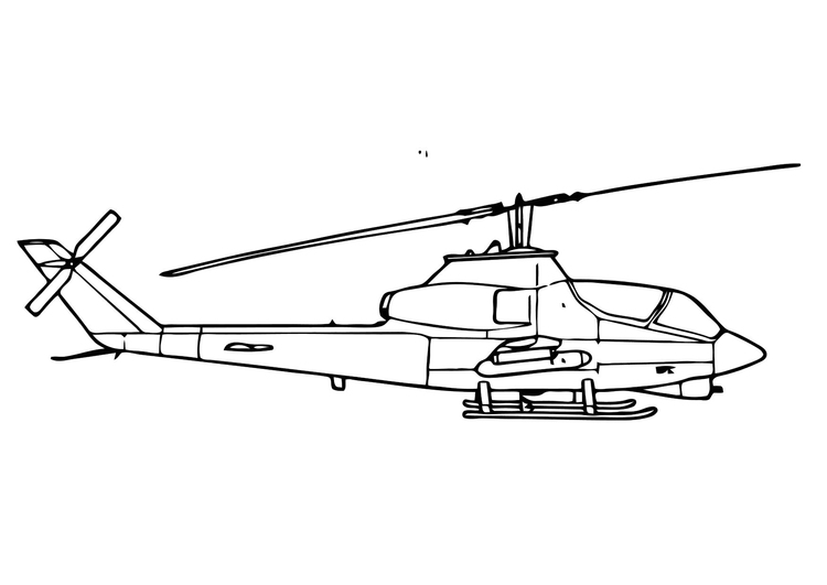 Coloring page cobra helicopter