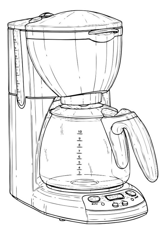 Coloring page Coffee Machine
