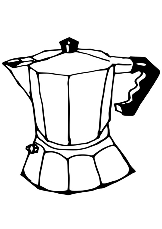 Coloring page coffee percolator