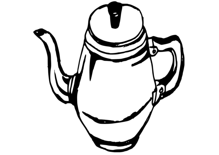 Coloring page coffee pot