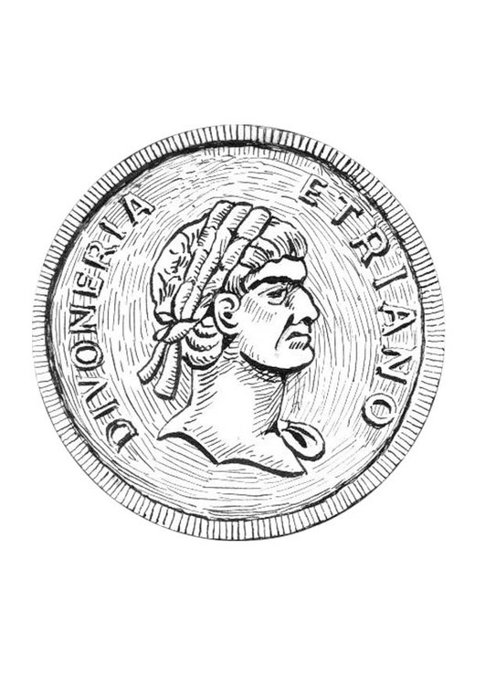Coloring page coin