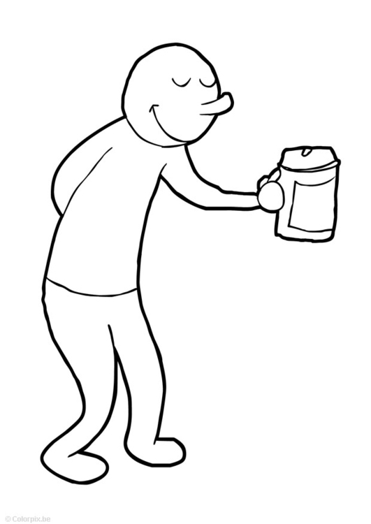 Coloring page collect money