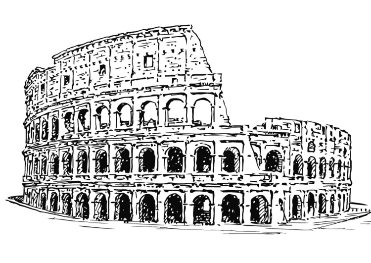 Coloring page Colloseum