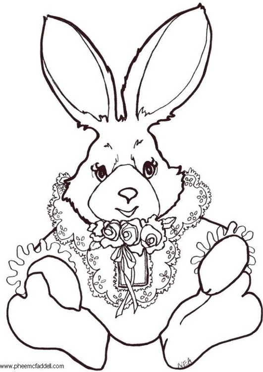 Coloring page coloring rabbit