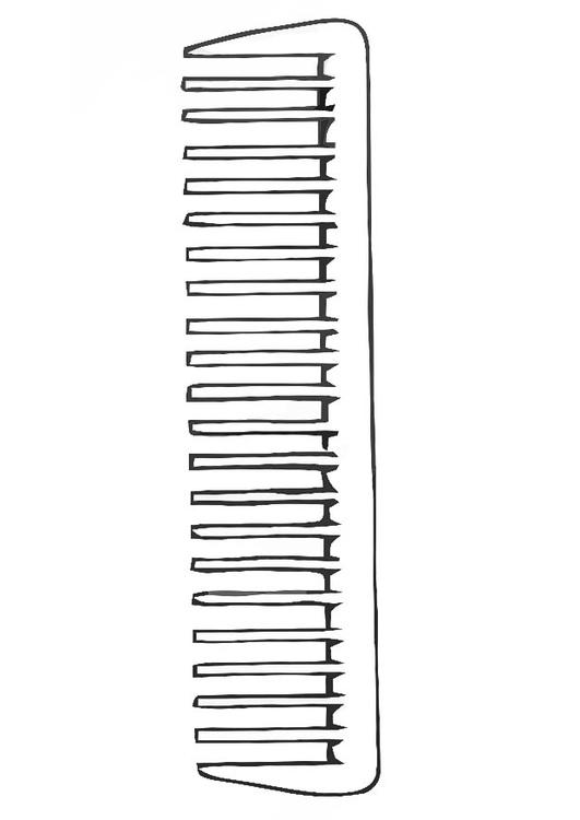 Coloring page comb - img 19203. Images