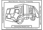 Coloring page compacting recycle truck