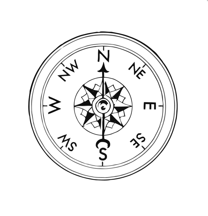 Coloring page compass