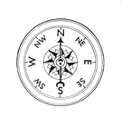 Coloring pages compass
