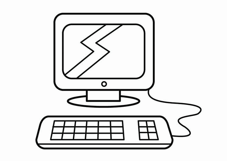 Coloring Page Computer Corner Research